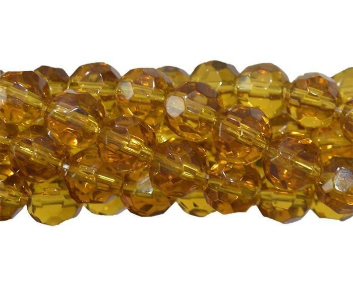 Fio para Guia de Cristal de Vidro Citrino 8mm - 126 cristais - CV214  - ArtStones