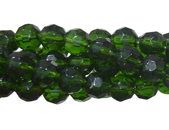 Fio para Guia de  Cristal de Vidro Esmeralda 8mm - 126 cristais - CV210  - ArtStones