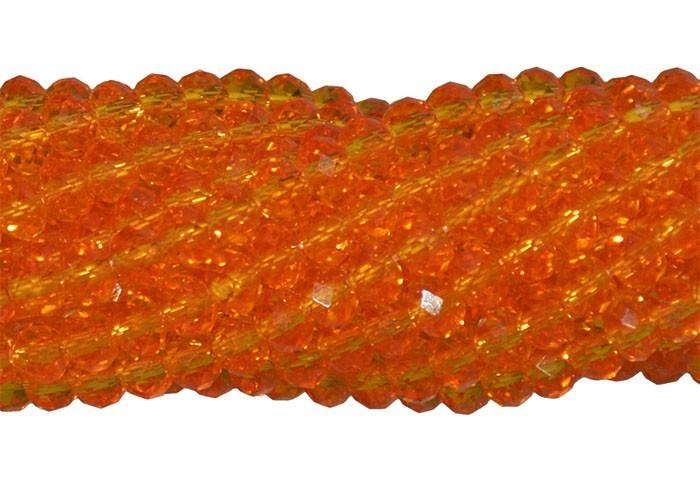Fio de Cristal de Vidro Tangerina 4mm - 140 cristais - CV075  - ArtStones