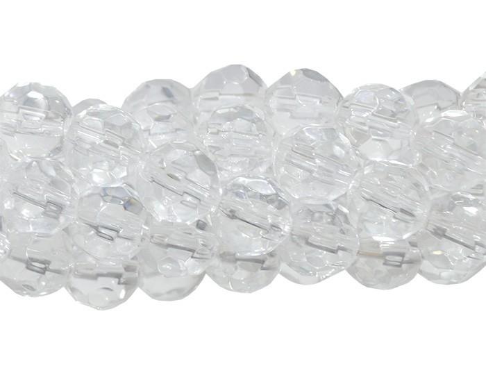 Fio para Guia de Cristal de Vidro Transparente 8mm - 126 cristais - FCR_247  - ArtStones