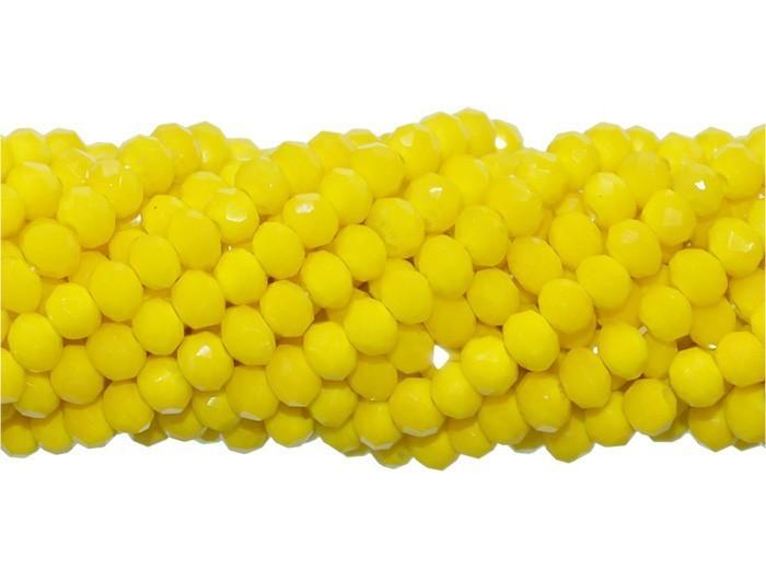 Fio de Cristal de Vidro Amarelo Ferrari 3mm - 144 cristais - CV063  - ArtStones