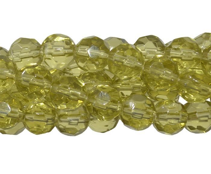 Fio para Guia de Cristal de Vidro OLiva 8mm - 126 cristais - CV215  - ArtStones