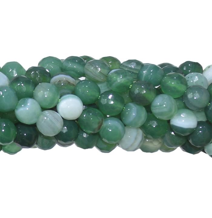 Ágata Verde Mesclada Fio com Esferas Facetadas 6mm - FESF_177/6FA  - ArtStones