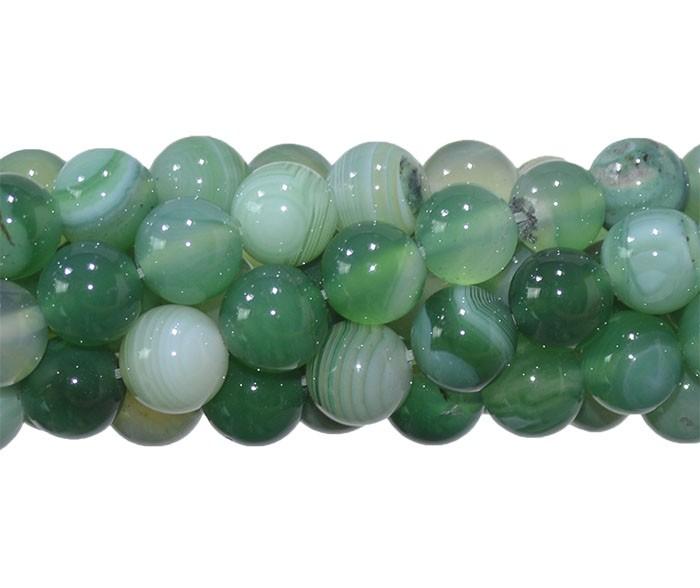 Ágata Verde Mesclada Fio com Esferas de 10mm - F079  - ArtStones