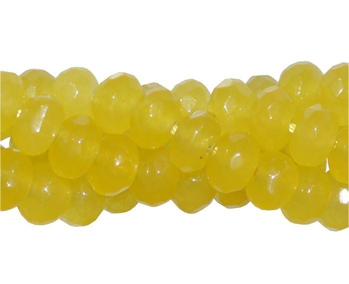 Jade Amarelo Formato Briolet de 6mm - F314  - ArtStones