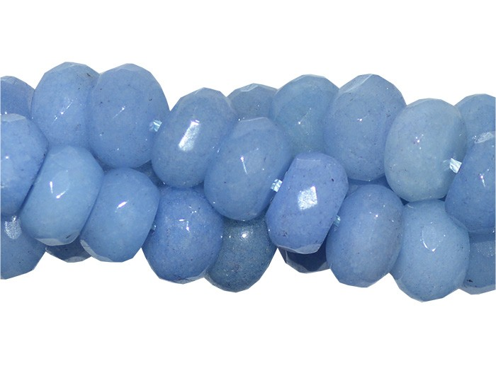 Jade Azul Formato Briolet de 10mm Facetado - FJA_313  - ArtStones