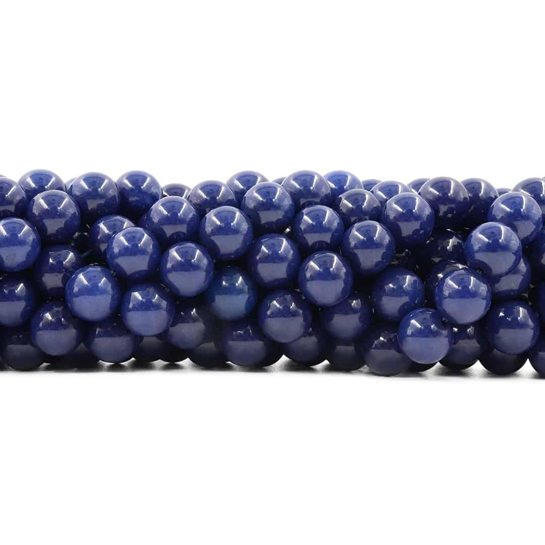 Jade Safira Fio com Esferas de 10mm - F374  - ArtStones