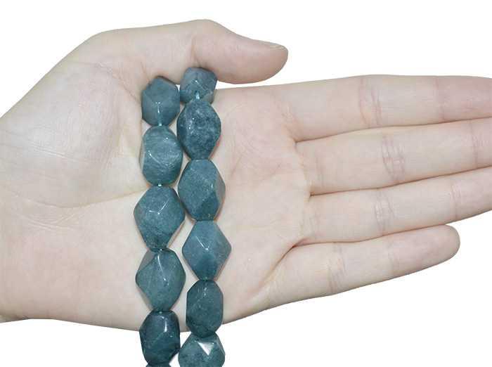 Fio de Jade Oceânico Chanfrado 18x12mm - RO002  - ArtStones