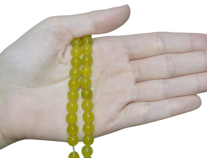 Jade Peridoto Fio com Esferas de 8mm - F394  - ArtStones