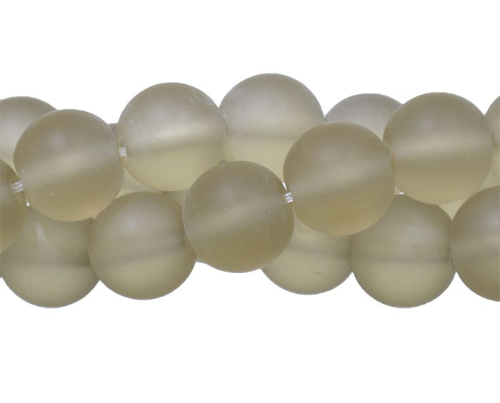 Murano Indiano Ocre 10mm Fosco - 22 peças - CV237  - ArtStones
