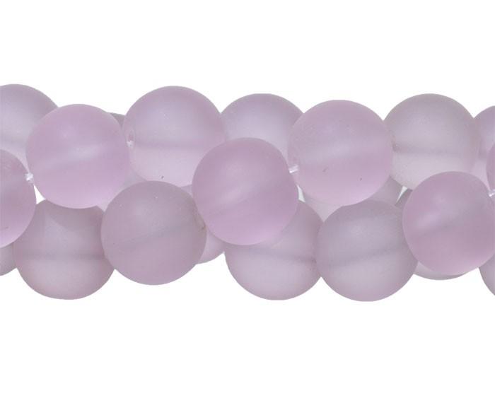 Murano Indiano Rosa 10mm Fosco - 22 peças - CV235  - ArtStones