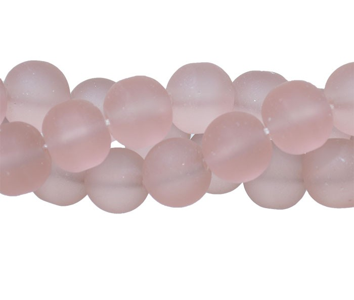 Murano Indiano Rose 10mm Fosco - 22 peças - CV324  - ArtStones