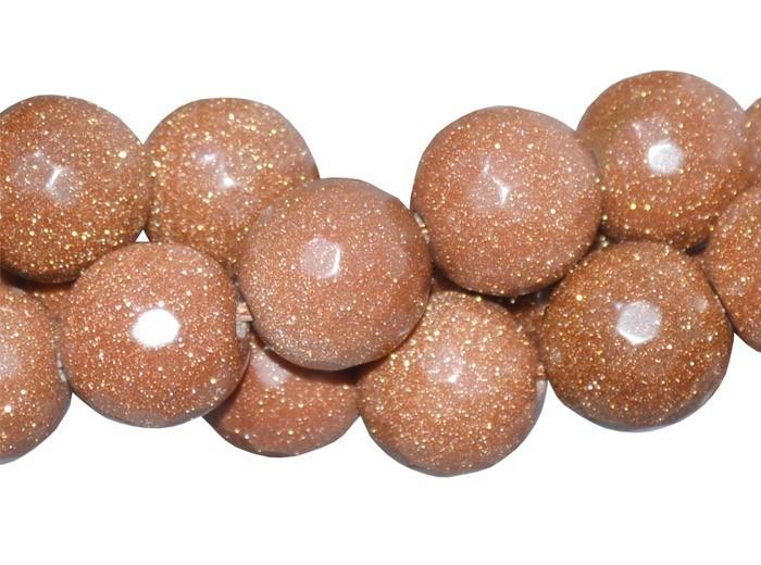 Pedra do Sol Fio com Esferas Facetadas de 14mm - F244  - ArtStones