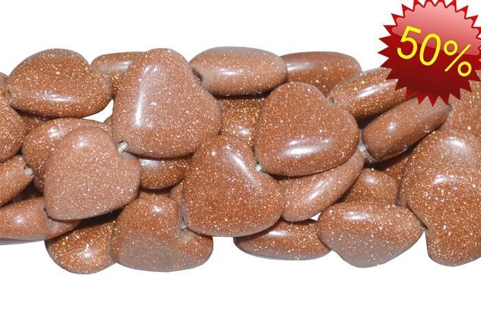 Pedra do Sol Formato Coração 12mm  - F245  - ArtStones