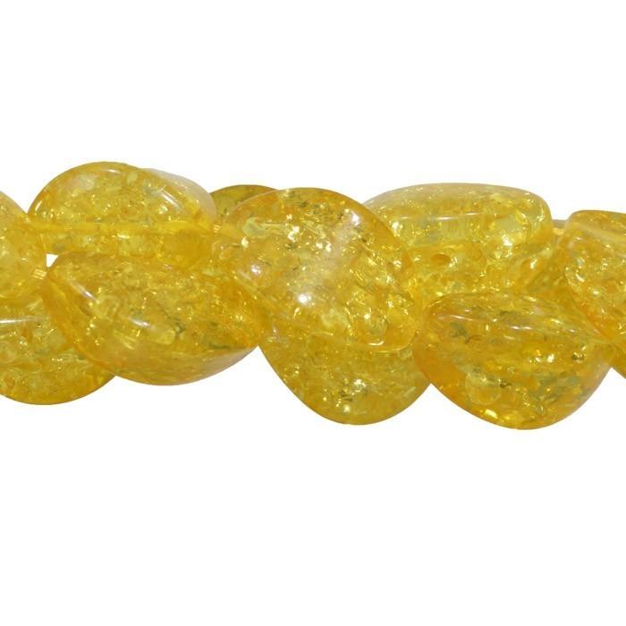 Fio de Resina Âmbar Formato Carambola 27x13mm - OM034  - ArtStones