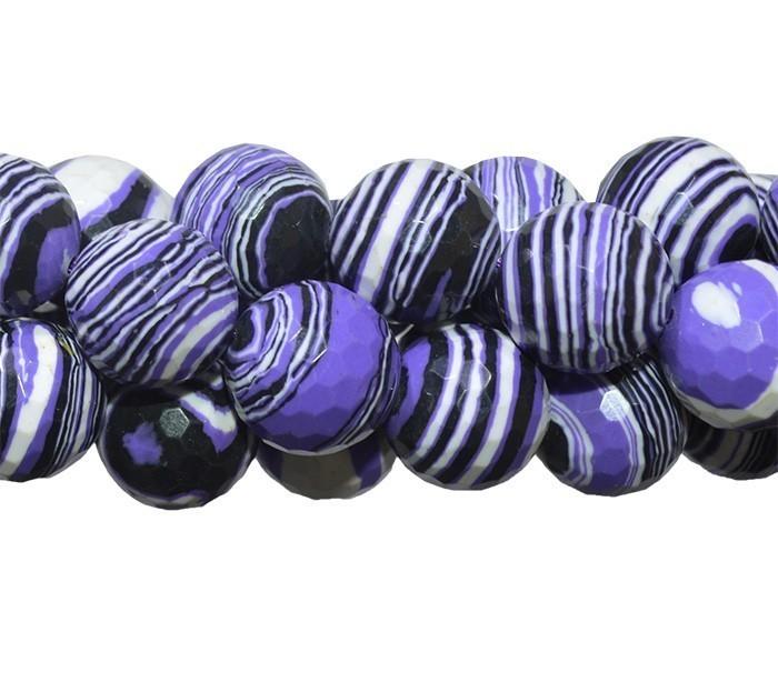 Fio com Esferas de Resina Mesclada Uva 12mm Facetada - OM027  - ArtStones