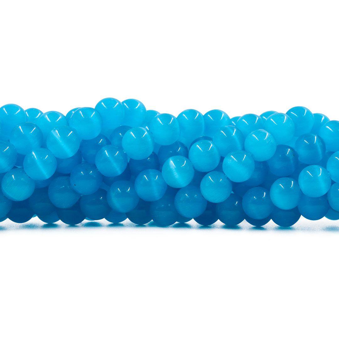 Olho de Gato Azul Claro Esferas Tamanhos Variados - OM057  - ArtStones