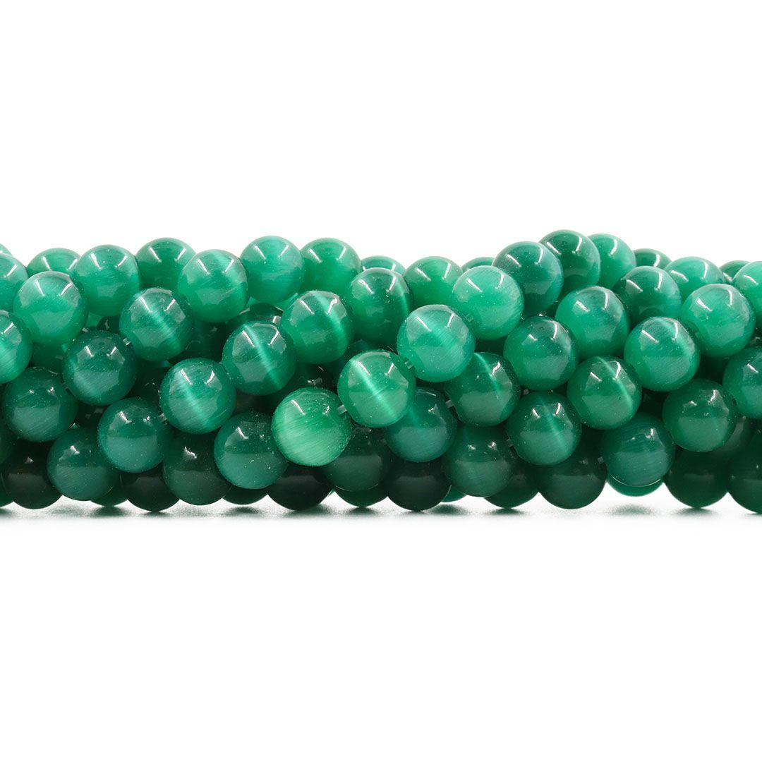 Olho de Gato Verde Folha Esfera Tamanhos Variados - OM063  - ArtStones