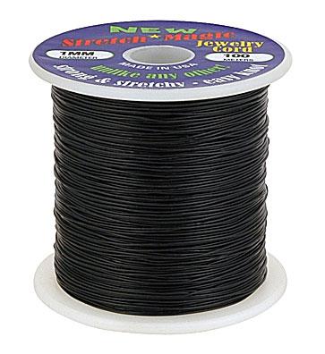 Fio de Silicone Preto Crystal Tec Tamanhos Variados - 100 METROS - MM013  - ArtStones