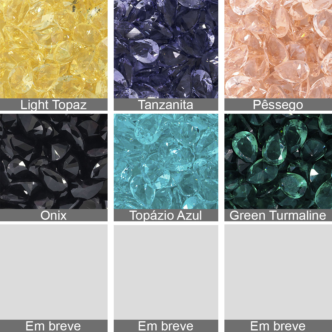 Gota Cristal Lapidado 10x14mm - 02 peças - CL011  - ArtStones