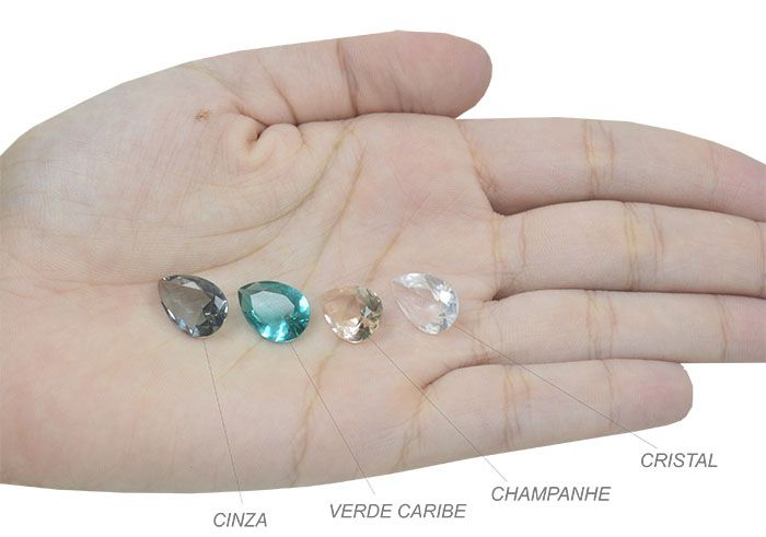 Gota Cristal Lapidado 10x14mm - 02 peças - CLU_149  - ArtStones