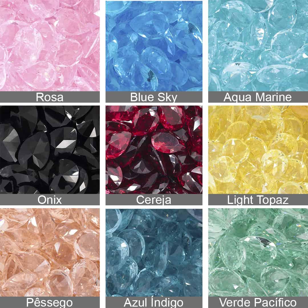 Gota Cristal Lapidado 13x18mm - 02 peças - CL007  - ArtStones