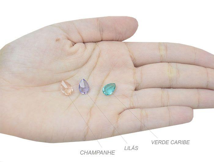 Gota Cristal Lapidado 7x10mm - 04 peças - CLU_146  - ArtStones
