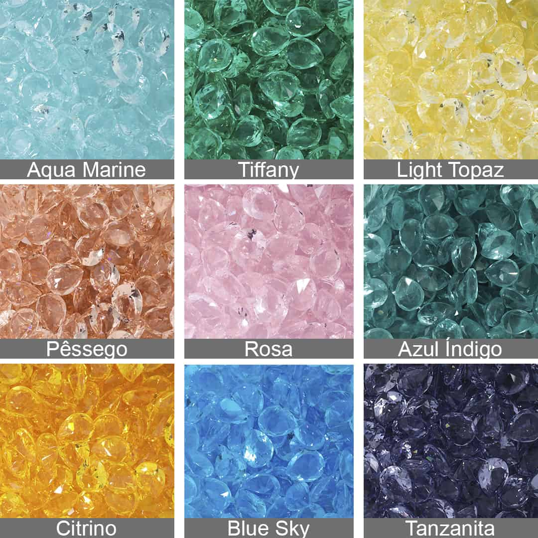 Gota Cristal Lapidado 8x10mm - 03 Peças - CL008  - ArtStones