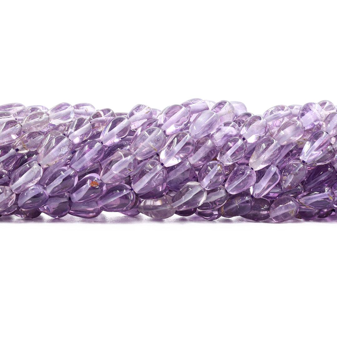 Gota de Ametista Natural Translúcida Tamanho Variado - F776  - ArtStones