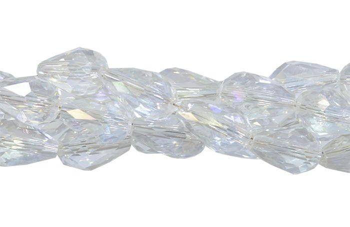 Gota de Cristal de Vidro Boreal 12x8mm Facetada - 6 Peças - CV338  - ArtStones