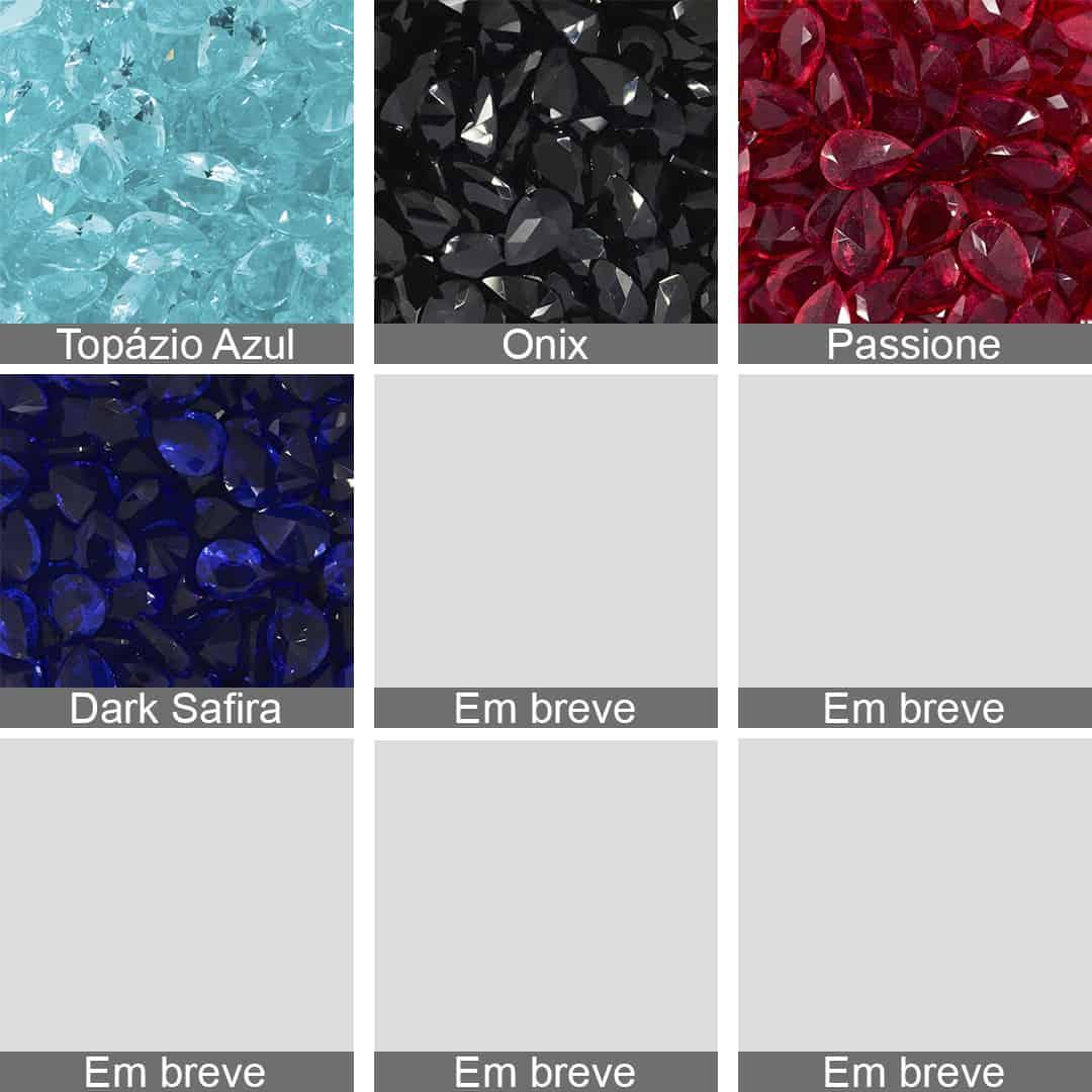 Gota de Cristal Lapidado 8x12mm - 03 peças - CL032  - ArtStones