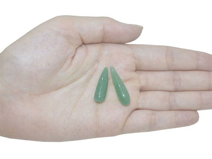 Gota Longa de Quartzo Verde Sem Furo - 1 Peça - PMO_555  - ArtStones