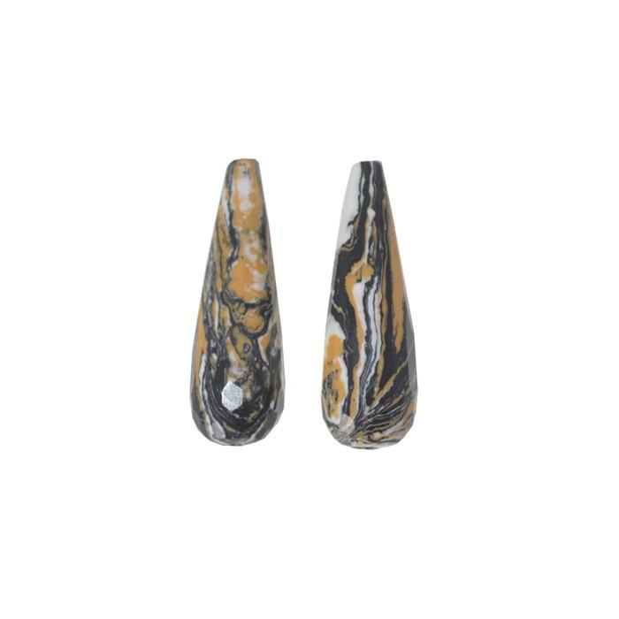Gota de Resina Mesclada 30x10mm - 04 peças - OM049  - ArtStones