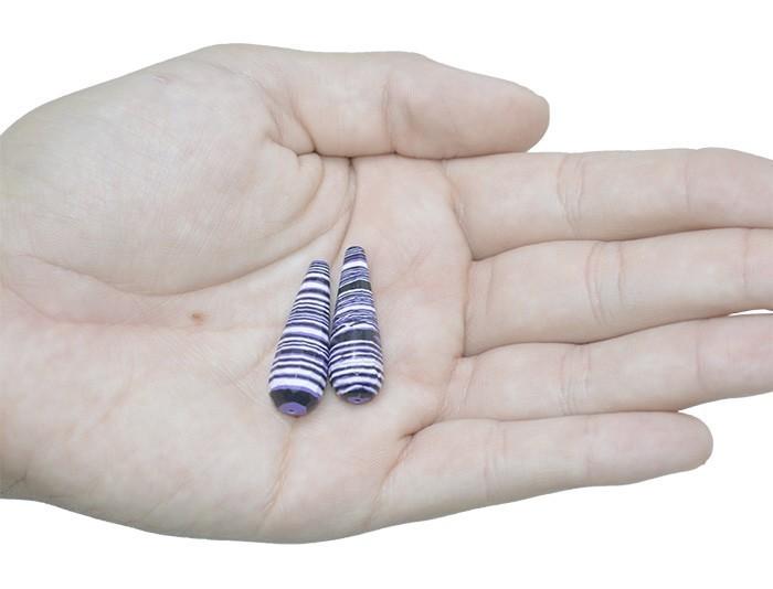 Gota de Resina Uva Mesclada 30x10mm - 04 peças  - OM051  - ArtStones