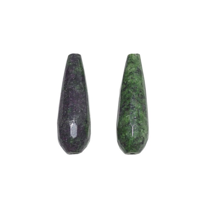 Gota Facetada de Rubi Zoisite 25 e 30mm - 4 Peças - PA040  - ArtStones
