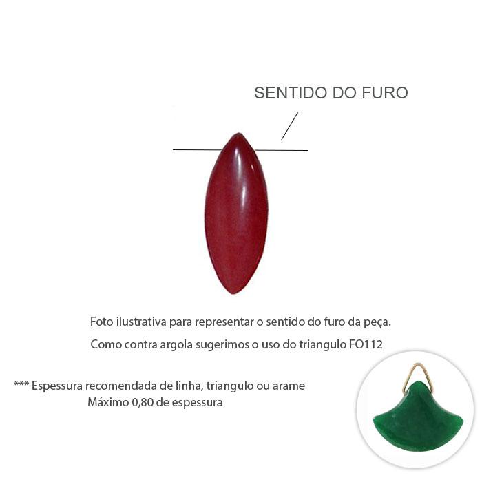 Gotão de Jade Natural 30x20mm - Cores Variadas - 4 Peças - PA067  - ArtStones