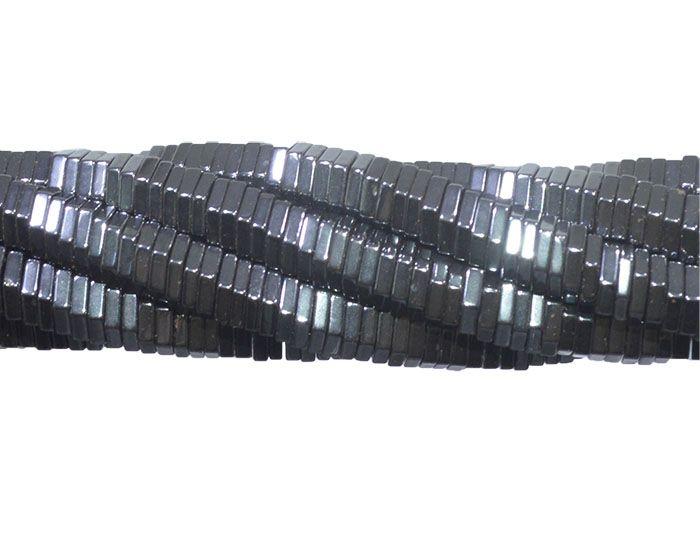 Hematita Disco Sextavado 5x1mm - FH017  - ArtStones