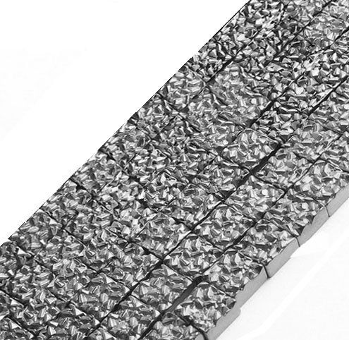 Hematita Drusa Quadrada 10mm - FH032  - ArtStones