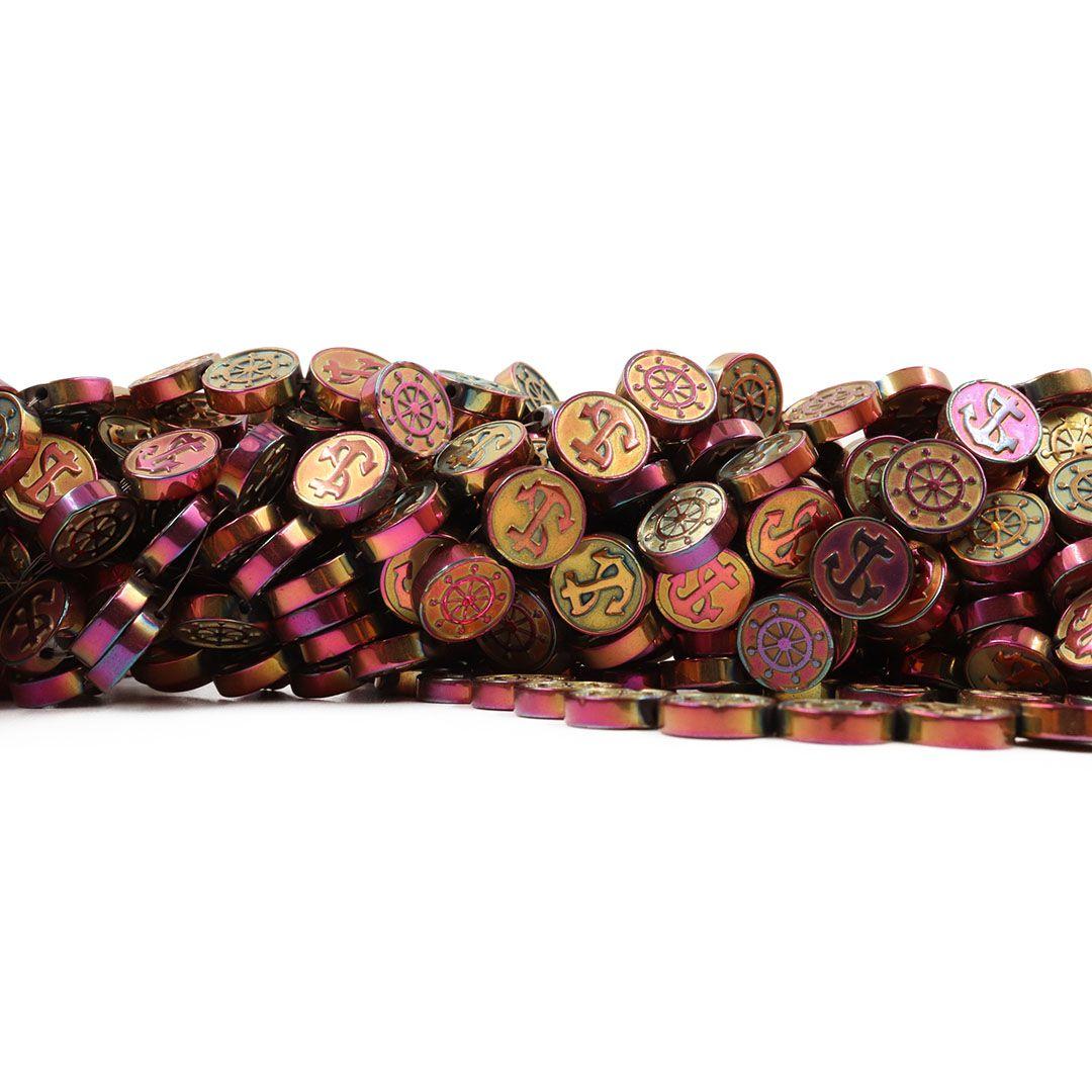 Hematita Frutacor Moeda Navegação 10mm - FH051  - ArtStones
