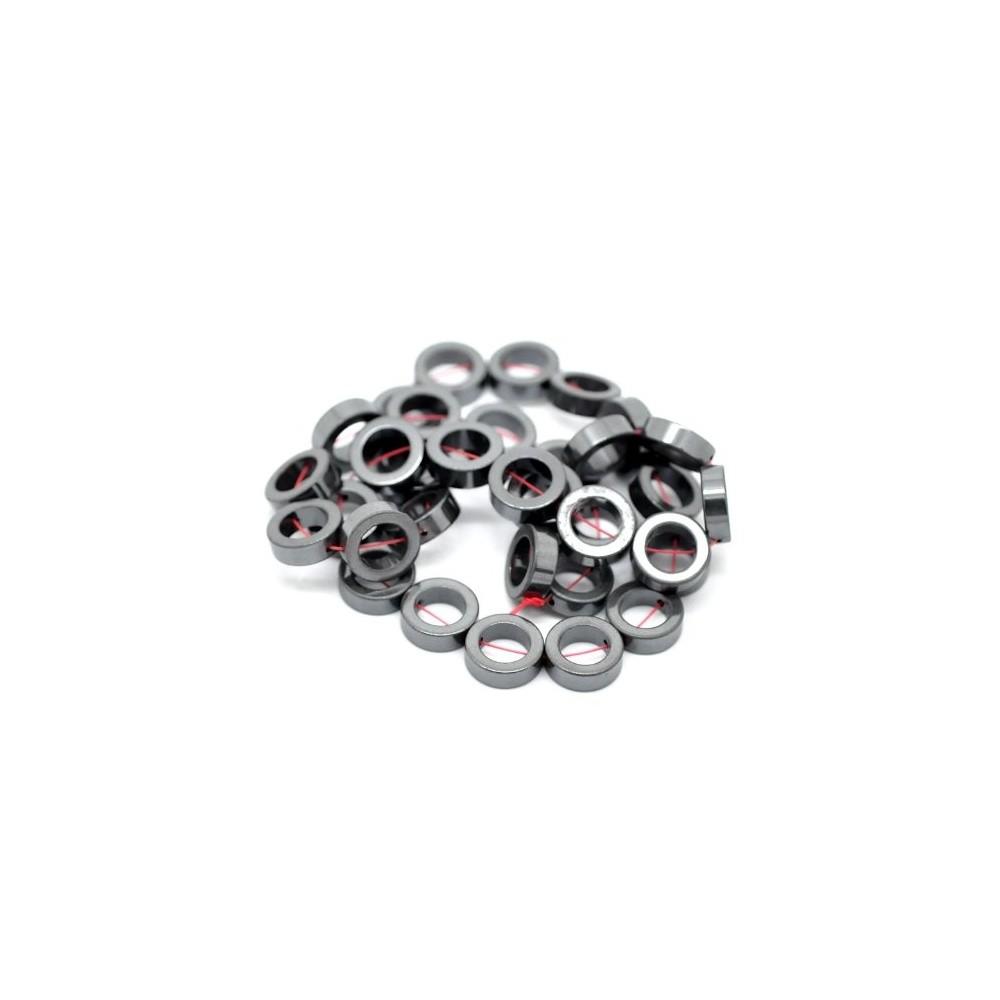 Hematita Moeda Vazada 8mm - FH007  - ArtStones
