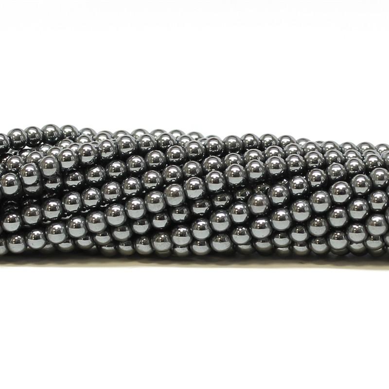 Hematita Natural Fio com Esferas de 4mm - FH003  - ArtStones