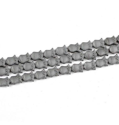 Hematita Natural Fosca Coruja 10x8mm - FHE_230  - ArtStones