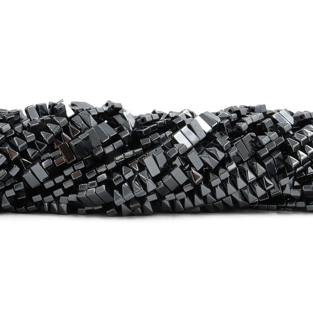 Hematita Retangular 2 Furos Bisote 3x6mm - FH044  - ArtStones
