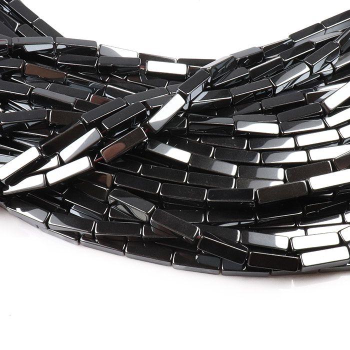 Hematita Retangular Palito 13x4mm - FH037  - ArtStones
