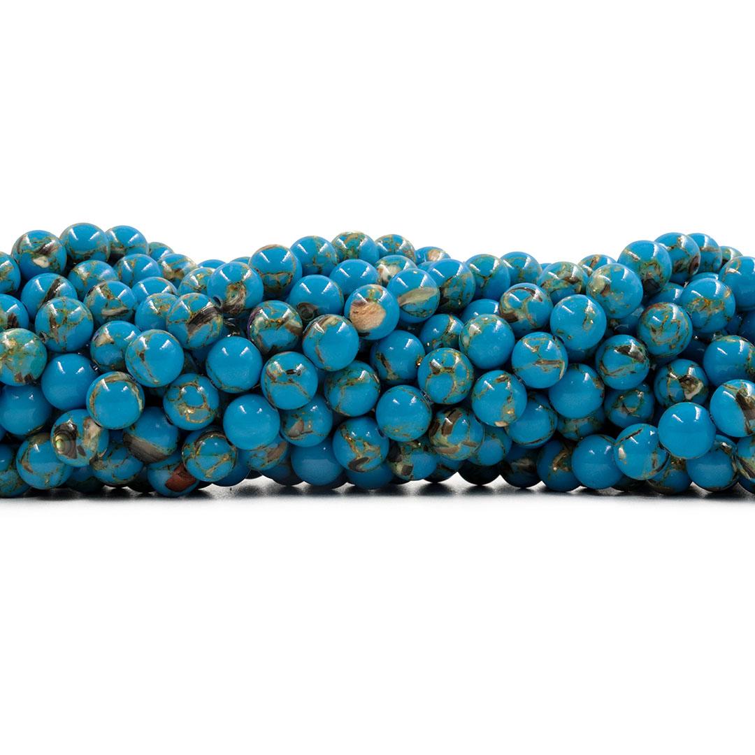 Howlita Collormix Azul Fio com Esferas de 8mm - F262  - ArtStones