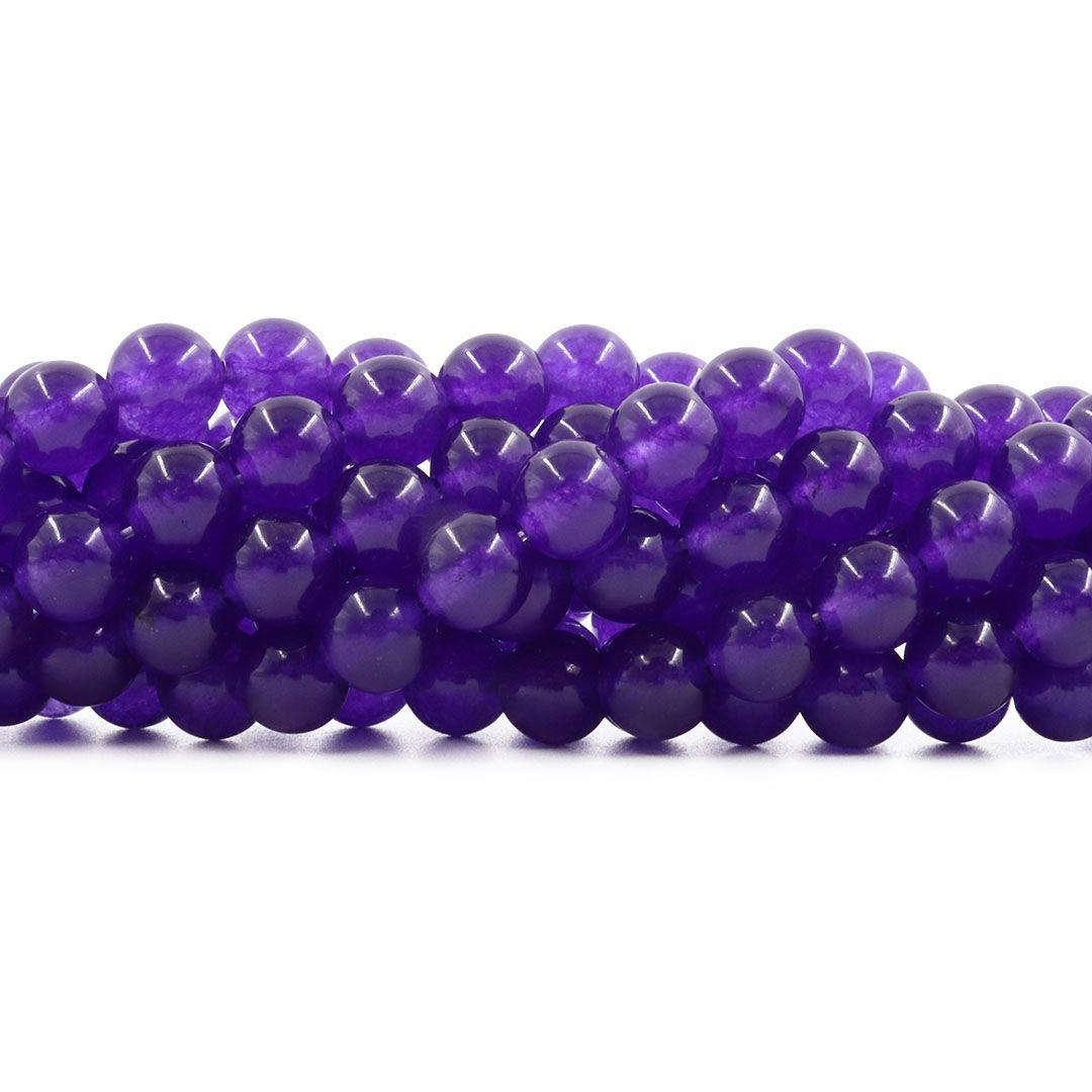 Jade Ametista Fio com Esferas de 8mm - FESF_314/8  - ArtStones
