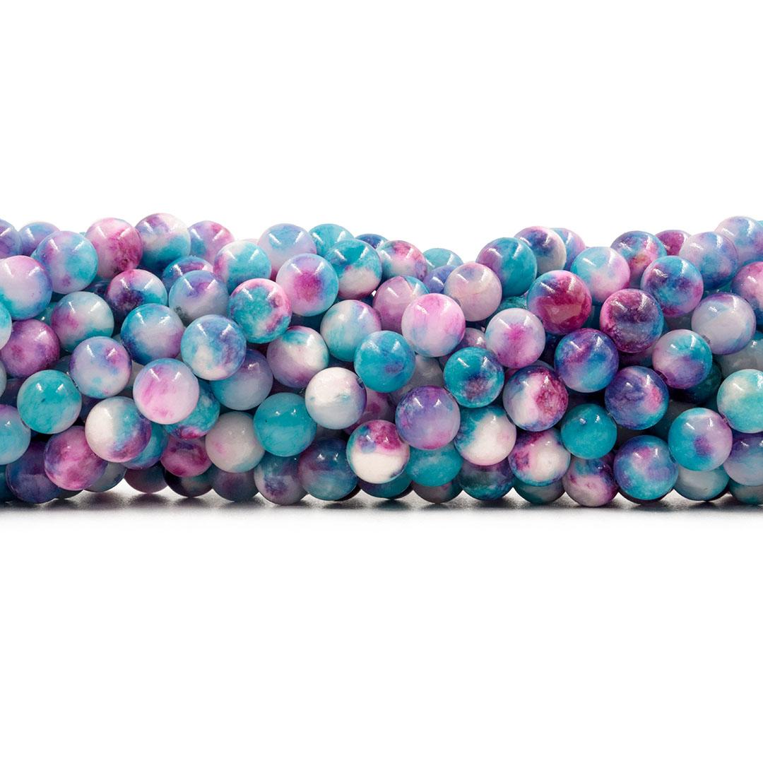 Jade Azul Mesclado Fio com Esferas de 8mm - F101  - ArtStones