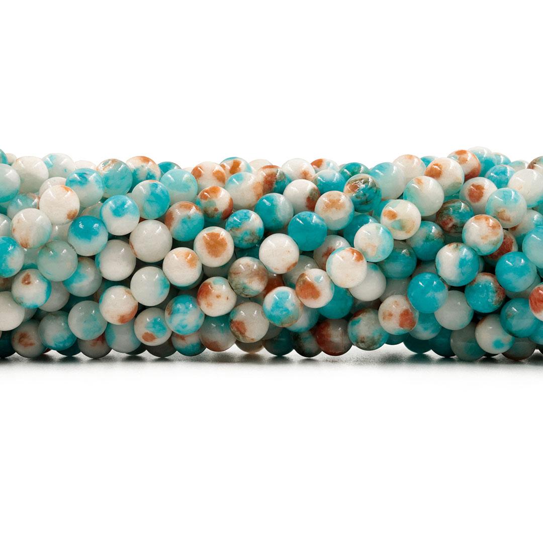 Jade Mesclado Fio com Esferas de 6mm - F606  - ArtStones