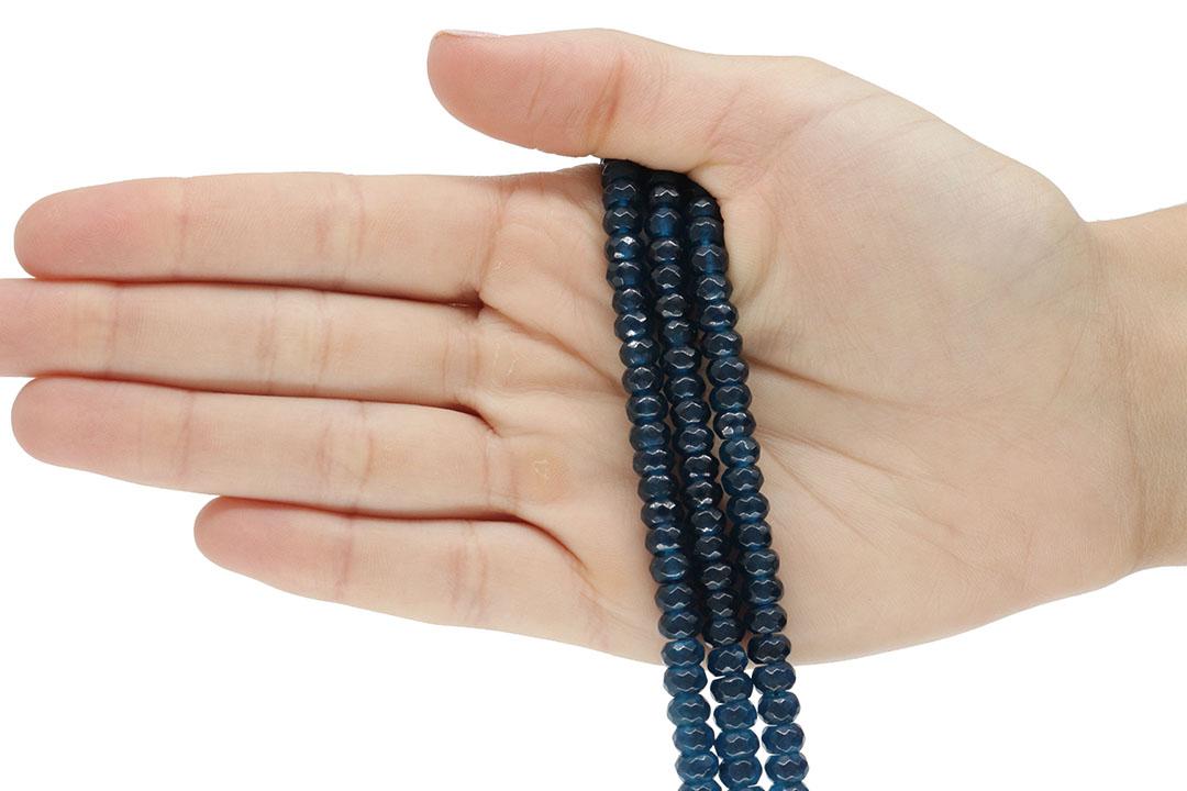 Jade Azul Petróleo Formato Briolet de 6mm Facetado - F768  - ArtStones