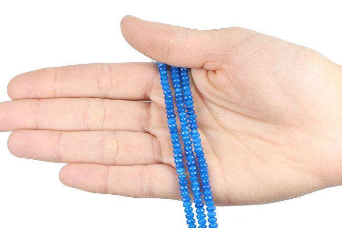 Jade Azul Royal Formato Briolet Facetado de 4mm - F311  - ArtStones